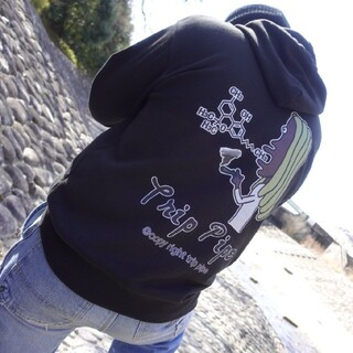 【joint星人】 pullover Hoodie (Black L)男女兼用(パーカー)
