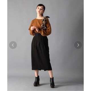 ハレ(HARE)のHARE ピンタックナロースカート(ひざ丈スカート)