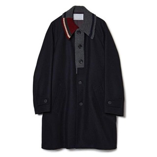 kolor - kolor 20aw Knit Docking Melton Coat