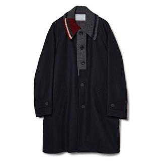kolor - kolor 20aw Knit Docking Melton Coat