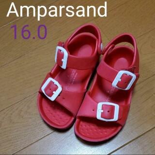 ampersand - Ampersand サンダル 16.0 赤