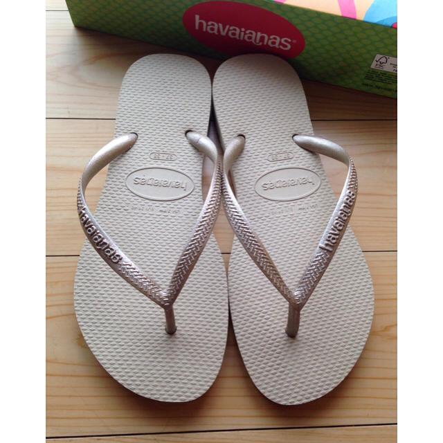 havaianas(ハワイアナス)の新品未使用 ハワイアナス ビーチサンダル スリム レディースの靴/シューズ(ビーチサンダル)の商品写真