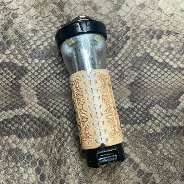 UNIFLAME(ユニフレーム)のGoalZero&ユニフレームスティックターボⅡレザーカバーオリジナルオーダー スポーツ/アウトドアのアウトドア(ライト/ランタン)の商品写真