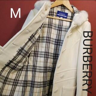 BURBERRY - 美品カシミヤ混BURBERRY ピーコート白裏総ノバチェック M