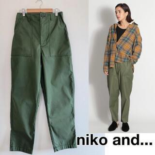 niko and... - 210103【美品】ニコアンド ベイカーパンツ カジュアルパンツ カーキ