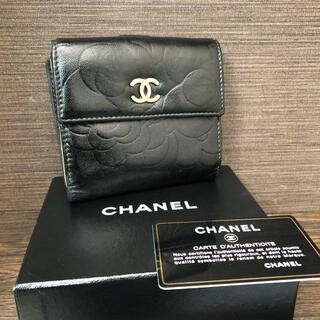 CHANEL - CHANEL シャネル カメリア コンパクト財布