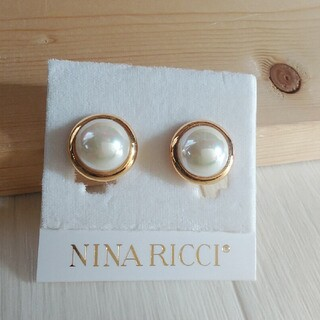 NINA RICCI - 大きめパールイヤリング