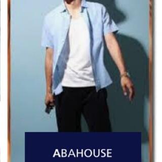 アバハウス(ABAHOUSE)のusedアバハウス 麻混合半袖シャツ 4 ブルー(シャツ)