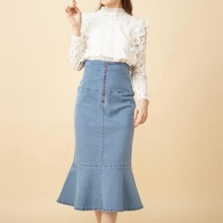 ミーア(MIIA)のMIIA ミーア マーメイド デニムスカート  新品(ひざ丈スカート)