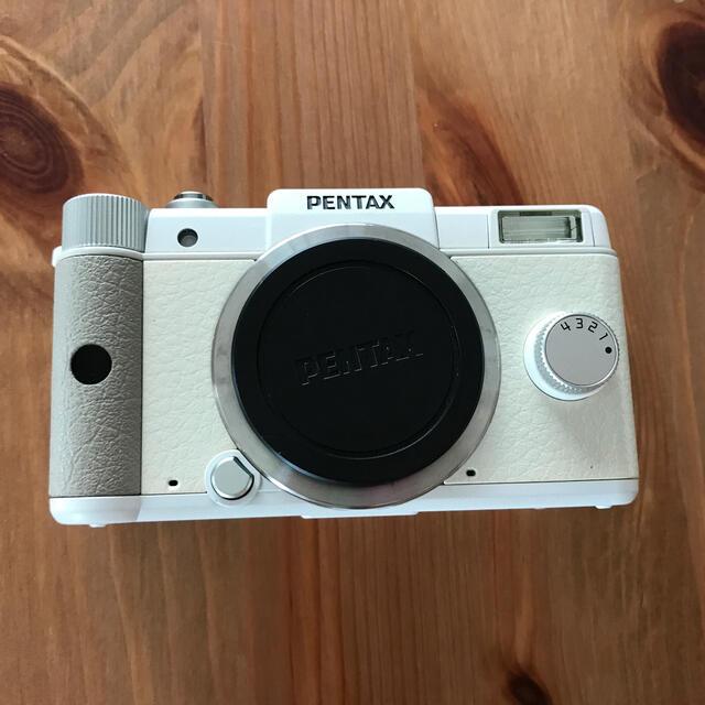 PENTAX(ペンタックス)のPENTAX Qレンズキットホワイト スマホ/家電/カメラのカメラ(コンパクトデジタルカメラ)の商品写真