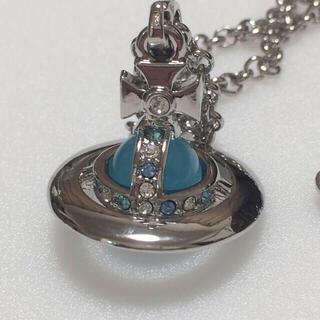 Vivienne Westwood - ヴィヴィアン タイニーオーブネックレス silver×skyblue
