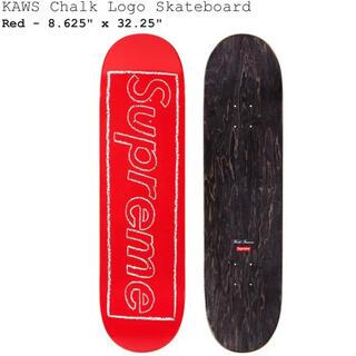 Supreme - Supreme KAWS Chalk Logo Skateboard Red 赤