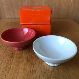 ルクルーゼ(LE CREUSET)のルクルーゼ チャワン 茶碗 ホワイト レッド ペア(食器)