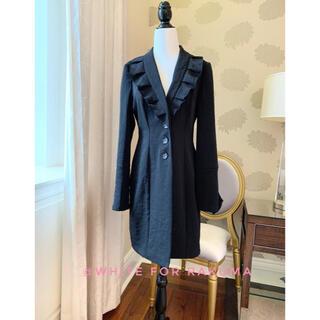 カナダデザイナーブランド フリル装飾スプリングコート(スプリングコート)