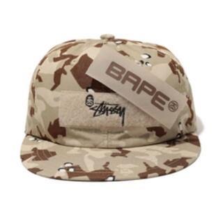 A BATHING APE - 希少BAPE x Stussy DESERT CAMO BASEBALL CAP