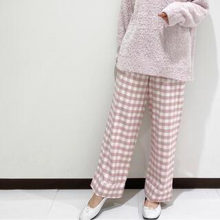 gelato pique - ジェラートピケ♡ネルギンガムチェックロングパンツ ピンク♡