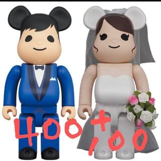 メディコムトイ(MEDICOM TOY)のBE@RBRICK グリーティング結婚 4 PLUS 400%&100%セット(フィギュア)