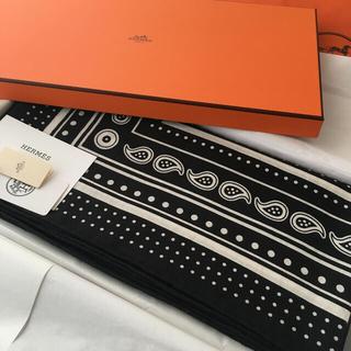 Hermes - 【新品未使用】Hermès カシシル noir 黒 バンダナ 2020