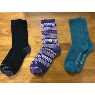 コロンビア(Columbia)の新品コロンビアColumbia メンズソックス 靴下 3足セット210(ソックス)