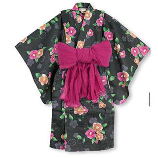 Branshes - 新品★ 110-120 Mサイズ 浴衣 ブランシェス つばき 帯付き