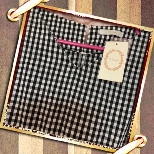 SM2(サマンサモスモス)のSM2 綿ナイロンギンガムVネックワンピース レディースのワンピース(ロングワンピース/マキシワンピース)の商品写真
