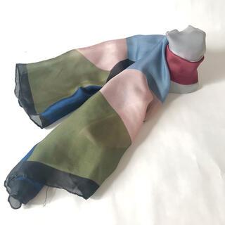 ロキエ(Lochie)の古着 ブロック マルチカラー アースカラー  くすみカラー スカーフ 16(バンダナ/スカーフ)