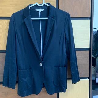 クミキョク(kumikyoku(組曲))の組曲 紺 ジャケット 綿100% サイズ2(テーラードジャケット)