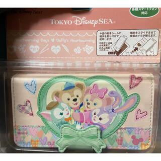 ディズニー(Disney)のダッフィー スマホケース手帳型(モバイルケース/カバー)