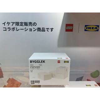 イケア(IKEA)のBYGGLEK ビッグレク レゴ®ボックス ふた付き 3点セット, ホワイト(積み木/ブロック)
