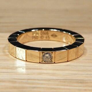 カルティエ(Cartier)の新品同様 カルティエ 研磨済み ラニエールリング 1Pダイヤ 45 5号 YG(リング(指輪))