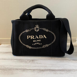 PRADA - プラダ ミニカナパ トートバッグ ブラック ショルダーバッグ  PRADA