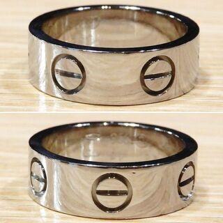 カルティエ(Cartier)の超美品 カルティエ 研磨済み 現行 ラブリング 47 7号 WG(リング(指輪))