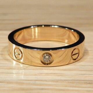 カルティエ(Cartier)の新品同様 カルティエ 研磨済み 現行 ミニラブリング ダイヤ 指輪 48 8号(リング(指輪))