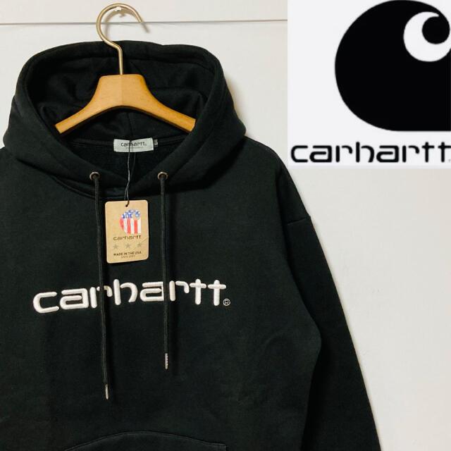 carhartt(カーハート)の新品・未使用!カーハート carhartt  スウェット パーカー ブラック L メンズのトップス(パーカー)の商品写真