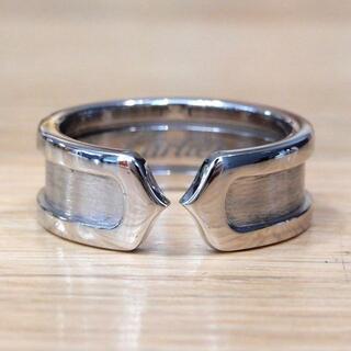 カルティエ(Cartier)の新品同様 カルティエ 研磨済み C2リング 指輪 WG #48(リング(指輪))