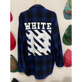 OFF-WHITE - off-white ネルシャツ(ビッグシャツタイプ長め)