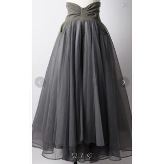ラベルエチュード(la belle Etude)のともネコ様専用タグ付き新品♡ハイウェストチュールスカート(ロングスカート)