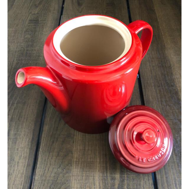 LE CREUSET(ルクルーゼ)の廃盤ル・クルーゼ Medium Grand Teapot 1.3L ティーポット インテリア/住まい/日用品のキッチン/食器(食器)の商品写真