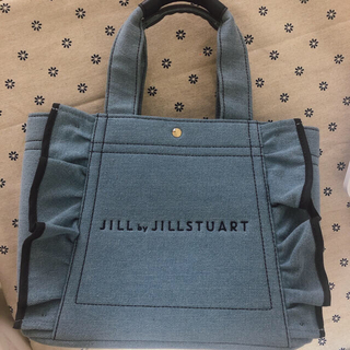 JILL by JILLSTUART - 新品未使用ジルバイフリルトートバッグ(小)デニム