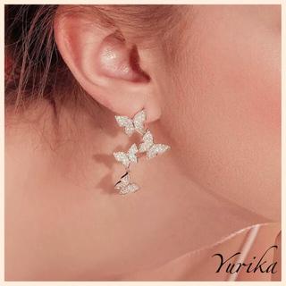 STAR JEWELRY - Butterfly cubic zirconia ♡♡♡ pierce