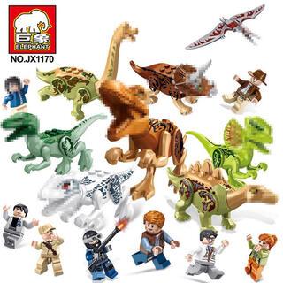 ジュラシックワールド 恐竜 シティ 大量セット レゴ互換 16個セット