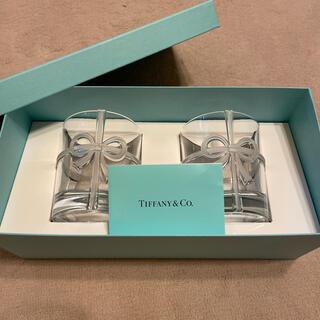 Tiffany & Co. - ティファニー TIFFANY&Co ボウ グラス セット ペアグラス