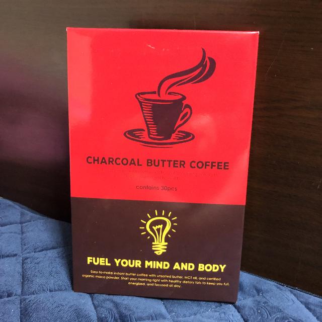 チャコールバターコーヒー 食品/飲料/酒の飲料(コーヒー)の商品写真