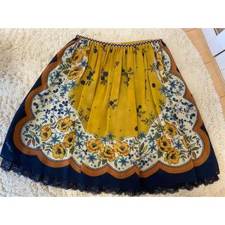 ロイスクレヨン(Lois CRAYON)のロイスクレヨン スカーフ 柄 プリント スカート(ひざ丈スカート)
