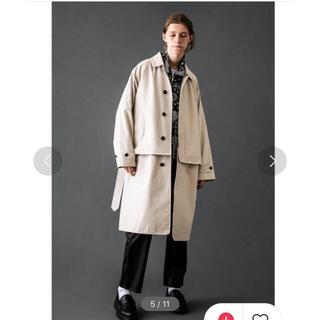 SUNSEA - モンキタイム monkey time 2way bal collar coat