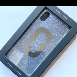マークバイマークジェイコブス(MARC BY MARC JACOBS)の【新品】マークジェイコブス iPhone XR ダブルJロゴ グリッターケース(iPhoneケース)