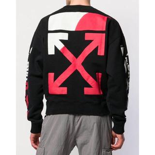 オフホワイト(OFF-WHITE)のOFF-WHITE diagonal split logo sweatshirt(スウェット)