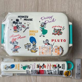 Disney - 新品 ディズニー 一段 ランチボックス お箸&お箸箱