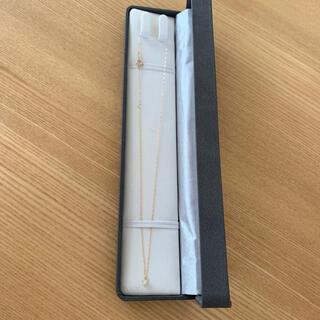 アーカー(AHKAH)の百貨店購入 k18 1粒ダイヤ0.14カラットネックレス(ネックレス)