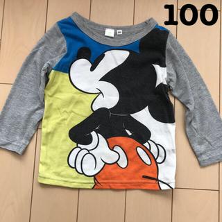 Disney - ロンT 長袖Tシャツ ミッキー  ディズニー 100cm